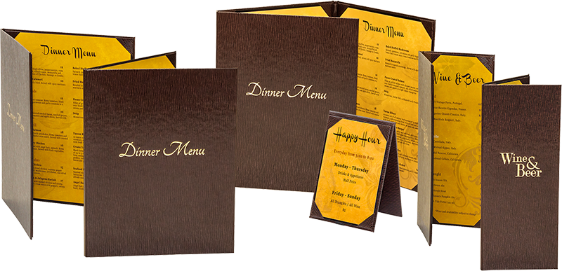 Custom Menu Cover Layouts
