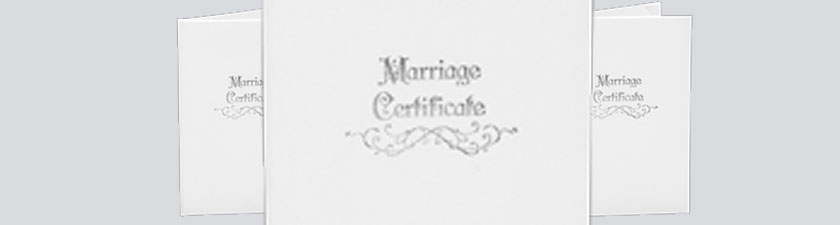 Wedding Certificate Covers