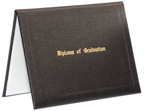 Stock Diploma Cover - Black Grain