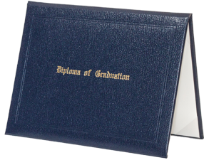 Stock Graduation Diploma Cover - Navy